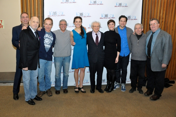 Andrew Levine (Executive Director of The York Theatre), Charles Strouse, Jason Graae, Jeffrey Saver, Kerry Conte, Sheldon Harnick, Rhyn McLemore, Aaron Serotsky, Robert Brink and James Morgan