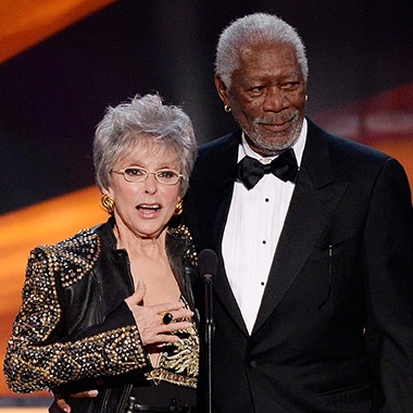 Rita Moreno, Morgan Freeman