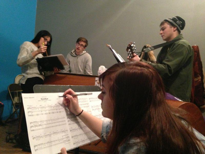 Bacchae Music Rehearsal