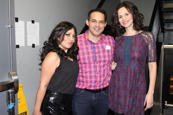 Natalie Toro, Ruben Flores and Mandy Gonzalez