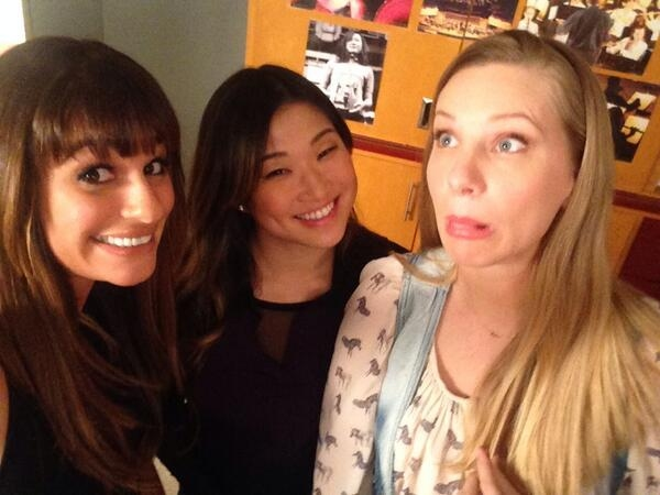 Photo Flash: First Look - Lea Michele Tweets from Set of GLEE's 100th Episode