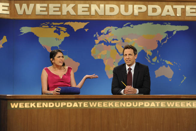 Highlights from SNL's 'Weekend Update' with Seth Meyers and Cecily Strong