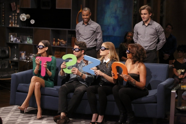 HOLLYWOOD GAME NIGHT -- ''We''ll Need To See Your TV ID'' Episode 208 -- Pictured: (l-r) Contestant, x -- (Photo by: Trae Patton/NBC)