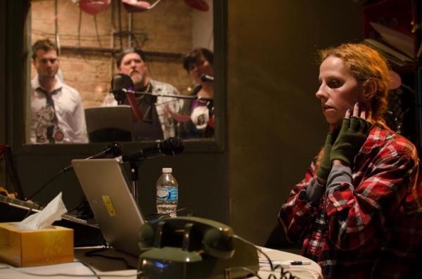 (Background) Jacob Alexander, Jamie Vann, Anita Deely and (Foreground) Nikki Klix