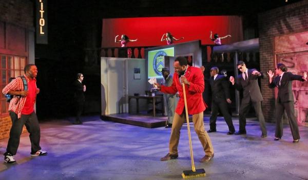 Elmwood (Bear Bellinger, center) show his son Steven (Jonathan Butler-Duplessis, left Photo
