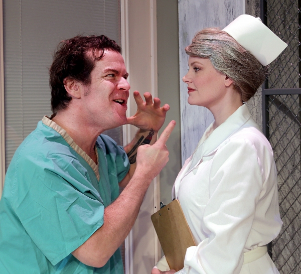 Tim Wisgerhof as McMurphy and Kellie Kramer as Nurse Ratched Photo