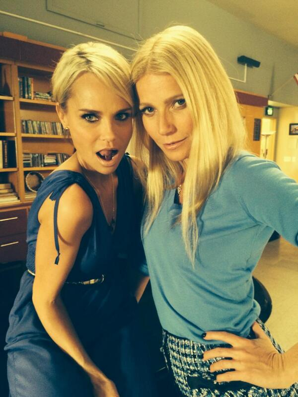 First Look At Kristin Chenoweth & Gwyneth Paltrow On Set Of GLEE's 100th Episode!