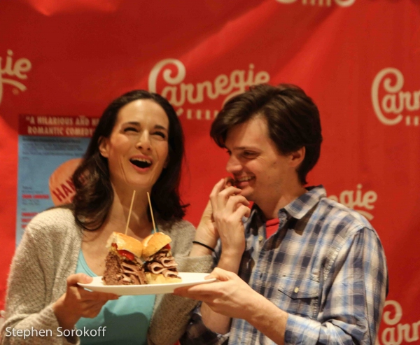Photo Coverage: Carnegie Deli Unveils HANDLE WITH CARE by Carol Lawrence Sandwich
