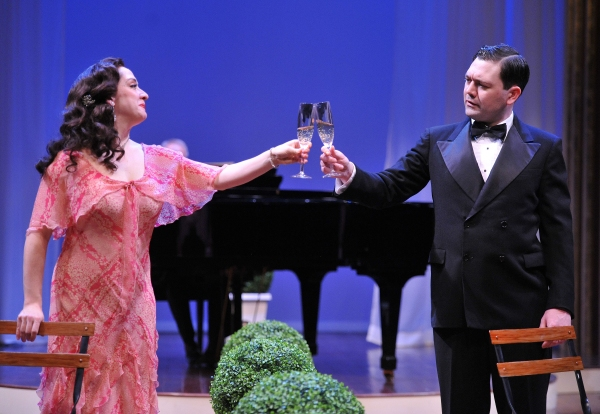 KRISTEN MENGELKOCH as Sibyl and TOM COINER as Victor