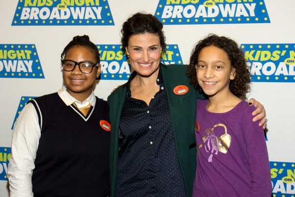 Photo Coverage: Idina Menzel and Broadway League Announce KIDS NIGHT OF BROADWAY's 2014 Festivities
