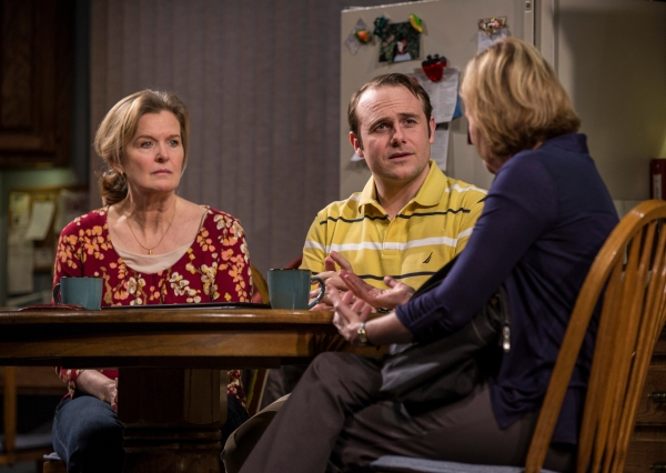 Jordan Baker (Cindy), Richard Thieriot (Pastor Jay) and Mary Beth Fisher (Caroline)