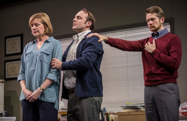 Mary Beth Fisher (Caroline), Richard Thieriot (Pastor Jay) and Erik Hellman (Cliff)