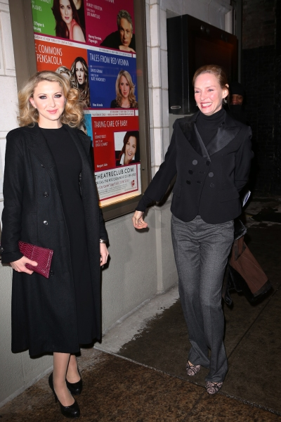 Nina Arianda and Uma Thurman