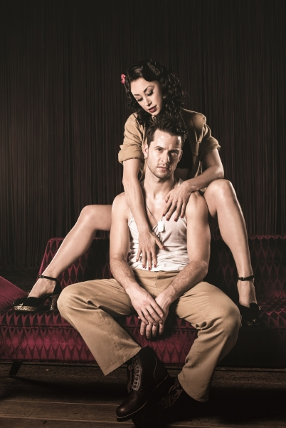 Darius Campbell (Warden) and Rebecca Thornhill (Karen) Photo