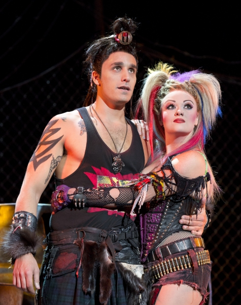 Jared Zirilli and Erica Peck in the national tour of We Will Rock You. Photo by Paul Kolnik.