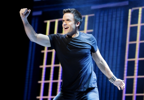 Brian Justin Crum in the national tour of We Will Rock You. Photo by Paul Kolnik.