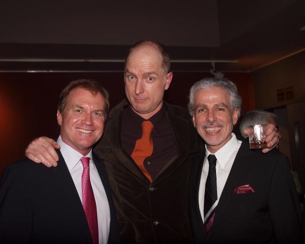 Executive Producer Tom McCoy, Hugo Armstrong, and Director Michael Arabian