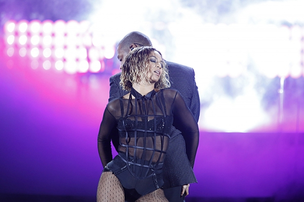 Beyonce & Jay-Z perform during THE 56TH ANNUAL GRAMMY AWARDS music industry''s premier event takes place Sunday, Jan. 26 (8:00-11:30 PM, live ET/delayed PT) at STAPLES Center in Los Angeles on the CBS Television Network.  Photo: Cliff Lipson/CBS �'?�