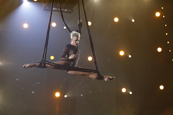Pink performs during THE 56TH ANNUAL GRAMMY AWARDS music industry''s premier event takes place Sunday, Jan. 26 (8:00-11:30 PM, live ET/delayed PT) at STAPLES Center in Los Angeles on the CBS Television Network.  Photo: Cliff Lipson/CBS �'?©2014