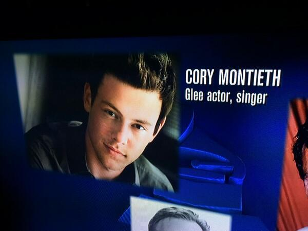 GRAMMYS Misspell Cory Monteith's Name During Special Tribute