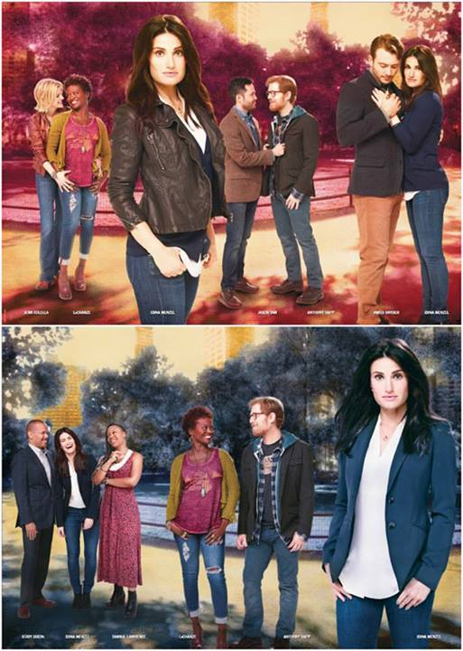First Look At Idina Menzel & Cast In New IF/THEN Installations at Richard Rodgers Theatre