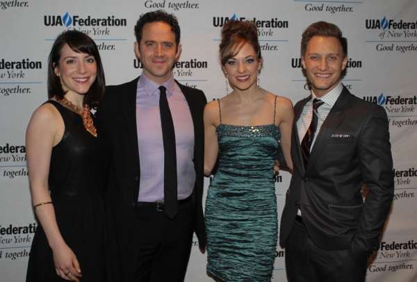 Jessica Hershberg, Santino Fontana, Laura Osnes and Nathan Johnson at UJA Honors Ted Chapin with 2014 Excellence in Theater Award