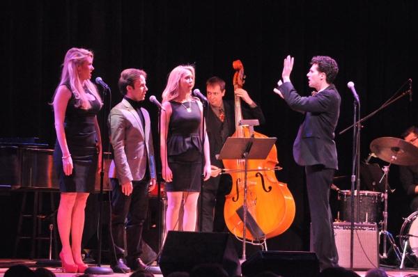 Liam Forde with his back up singers-Emily Ferranti, Corbitt Williams and Marissa Miller