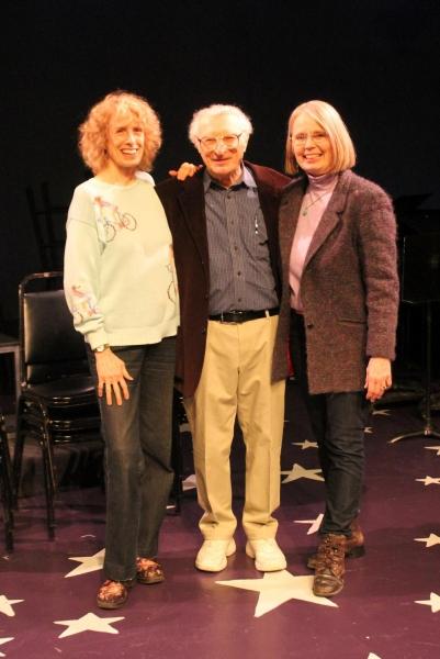 Beth Ertz (Music Director), Sheldon Harnick (Composer) and Maggie Harrer (Director) Photo