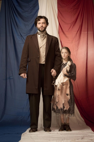 Kyle Olsen as Valjean, Elise Anderson as Young Cosette