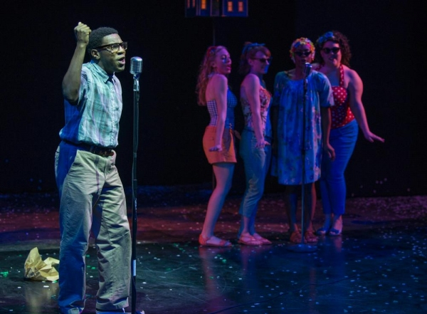 Brandon Markel Holmes as Jimmy with back up singers Christine Mayland Perkins, Kara Davidson, Ericka Ratcliff and Tamara White