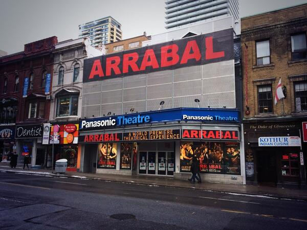 Up on the Marquee: ARRABAL at the Panasonic Theatre