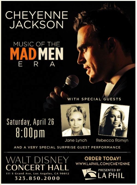Photo Flash: First Look at Cheyenne Jackson's LA Concert Poster!