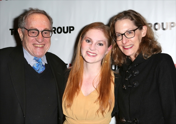 Alan Dershowitz, Ella Dershowitz & Carolyn Cohen  Photo
