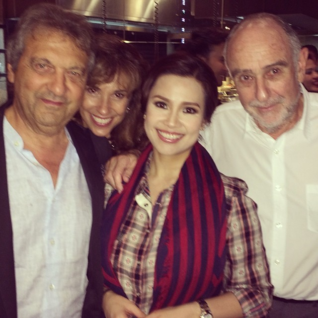 MISS SAIGON Reunion! Lea Salonga Poses With Claude-Michel Schonberg & Alain Boublil