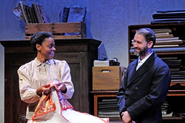 Mia Ellis as Esther and Mauro Hantman as Mr. Marks