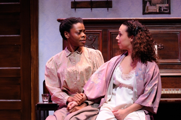 Mia Ellis as Esther and Shelley Fort as Mayme Photo