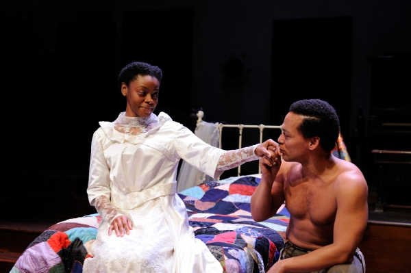 Mia Ellis as Esther and Joe WIlson, Jr. as George