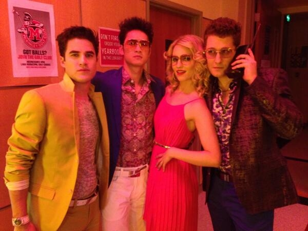 Photo Flash: Filming Wraps on GLEE's 100th Episode; Michele, Agron Share Pics!