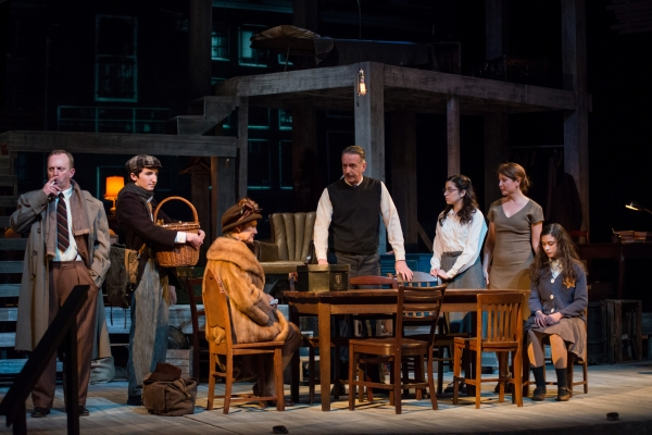 Scott Langdon as Mr. Van Daan, Owen Manion as Peter, Anne Connors as Mrs. Van Daan, Paul Dake as Mr. Frank, Dana Gitlin as Margot, Margaret DeAngelis as Mrs. Frank, and Anastasia Korbal as Anne Frank
