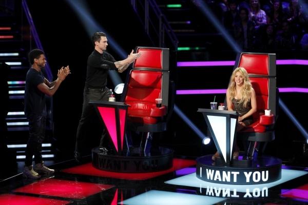 Usher, Adam Levine, Shakira