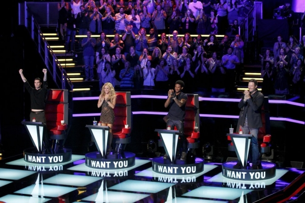 Adam Levine, Shakira, Usher, Blake Shelton