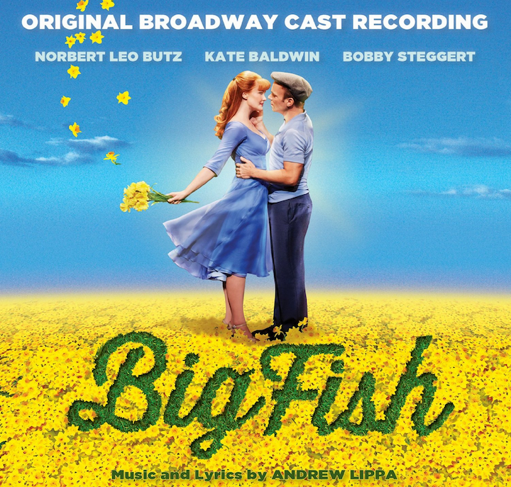 Splashy big fish cast recording album cover track list for Big fish screen printing