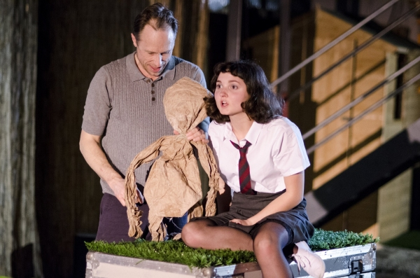 David Annen (Tom) and Ruby Bentall (Julie) in The Cement Garden. Photo by Rebecca Pitt.
