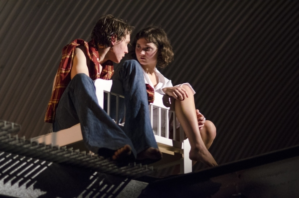 George Mackay (Jack) and Ruby Bentall (Julie) in The Cement Garden. Photo by Rebecca Pitt.