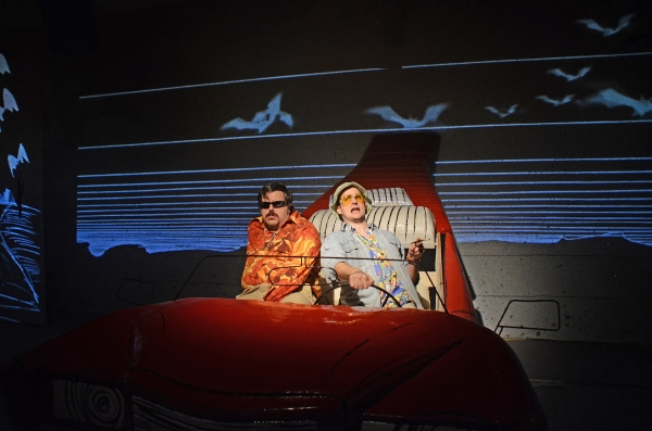 Rob Crouch (Dr Gonzo) and Ed Hughes (Raoul Duke) in Fear and Loathing in Las Vegas. P Photo