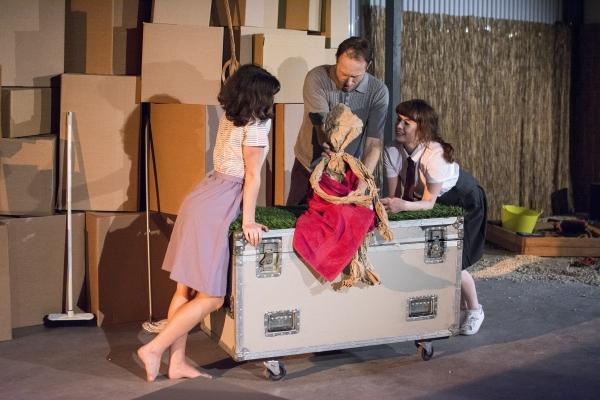 Ruby Bentall (Julie), David Annen (Tom) and Georgia Clarke-Day (Sue) in The Cement Ga Photo