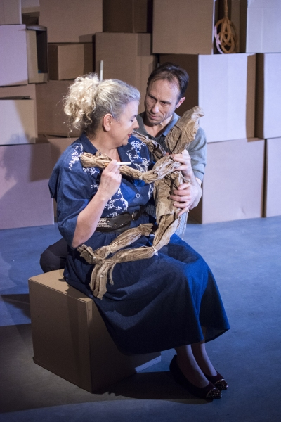 Victoria Gould (MOther) and David Annen (Tom) in The Cement Garden. Photo by Rebecca  Photo