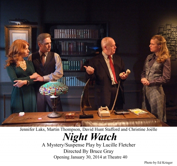 BWW Reviews: The Lady Sees Dead People in NIGHT WATCH at Theatre 40