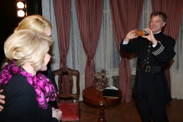 Joan Rivers visits Rebecca Brooksher and Eric Martin Brown