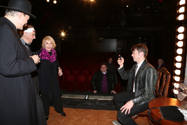 Joan Rivers visits Rocco Sisto, Ryan Garbayo, and Nick Westrate
